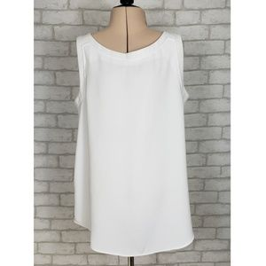 🔮Peter Nygard White Sleeveless Tunic Top Size 10